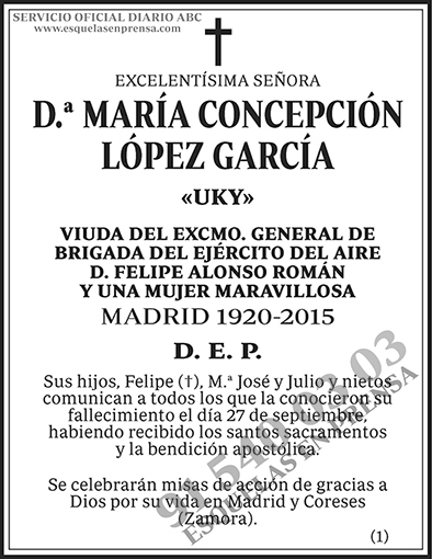 María Concepción López García